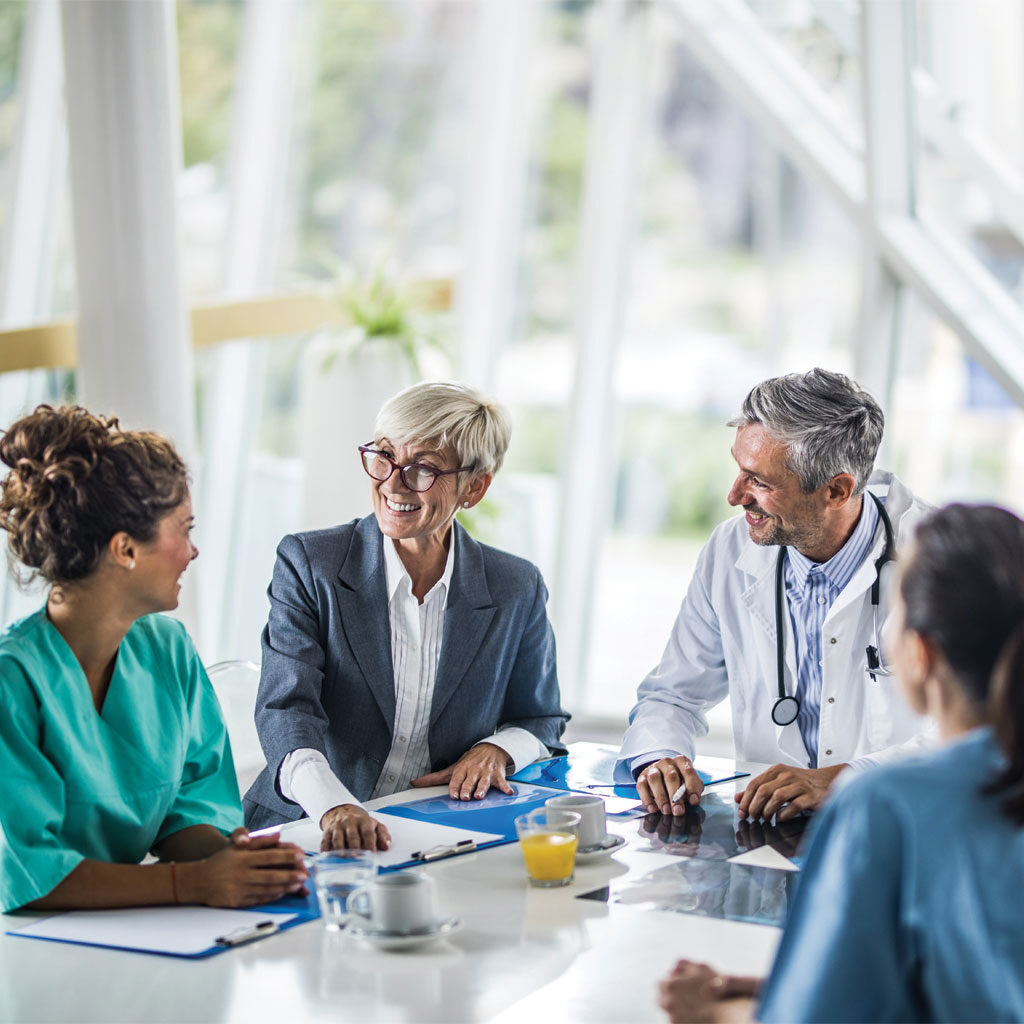 Business meeting with doctors