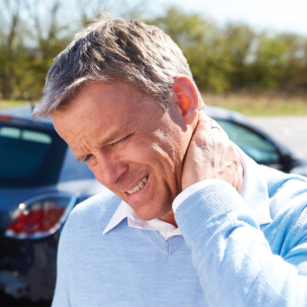 Man with neck injury - Allpria Healthcare Pain Management Aurora, CO